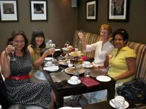 Taking tea at Tophams Hotel