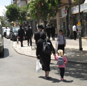 A street in Mea Shearim, Jerusalem