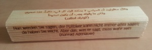 Adenauer quote - German and Arabic