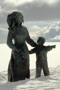 Mother and child, North Cape, Norway