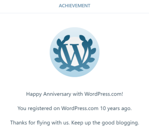Happy Anniversary from WordPress