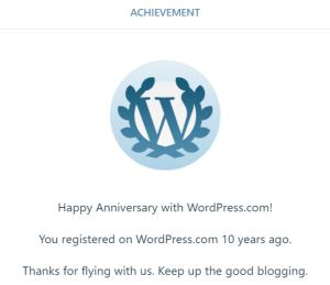 Happy Anniversary from WordPress