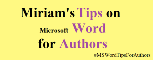 Microsoft Word Tips for Authors