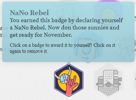 I'm a NaNo Rebel
